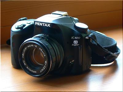 Pentax K100D Super с объективом HELIOS-44M-6