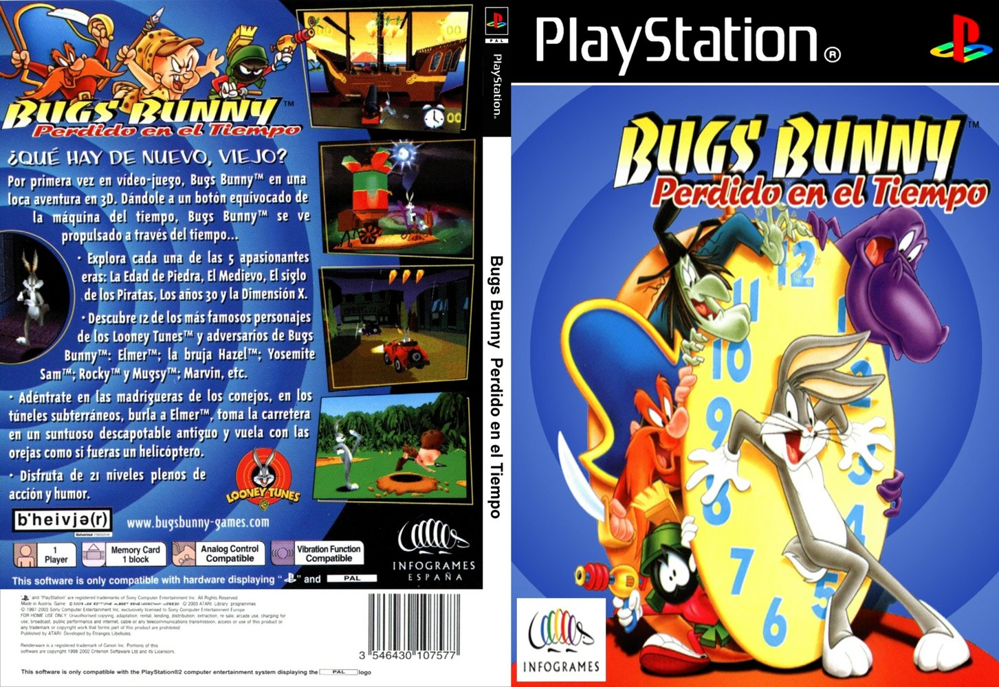Bugs Bunny lost in time [Full ISO] [PSX] [Español voces y texto] [UPL FLS BS FJ]