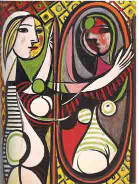muchacha ante un espejo, Pablo Picasso.