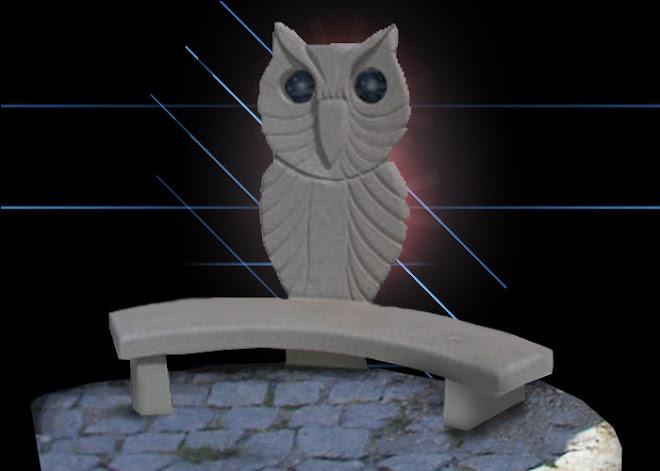 Banco do conhecimento,escultura em granito