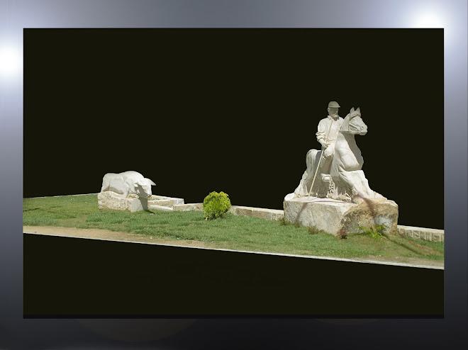 Escultura em granito com tamanho natural