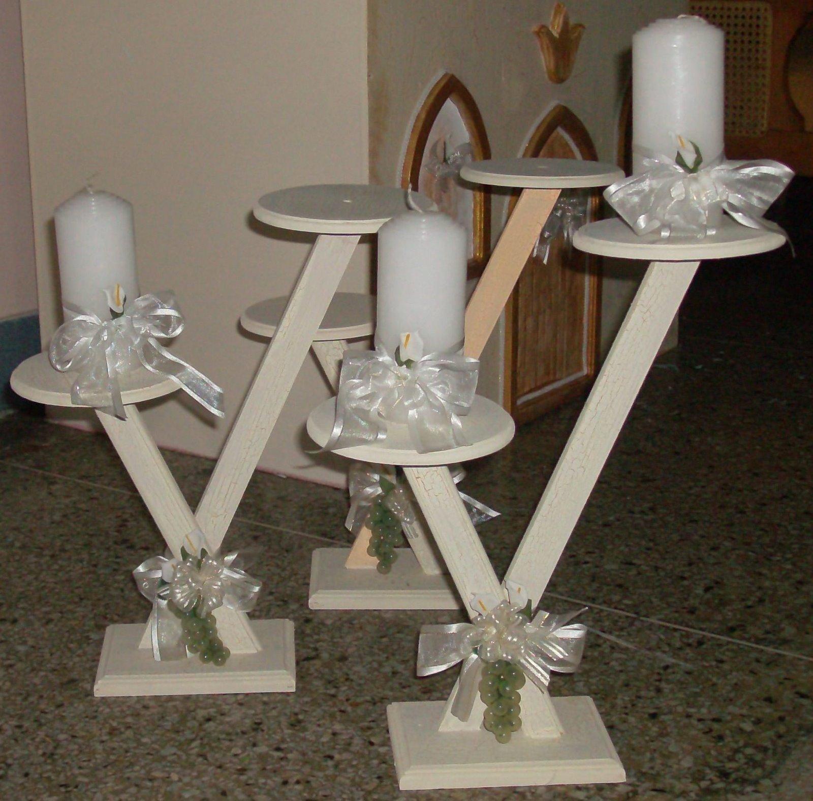 Centros mesa con velas para primera comunion hawaii - Centros de mesa para comunion ...