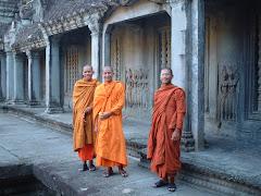 Happy Friendly Monks at Angkor Wat
