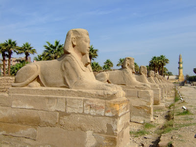 The Sphinx Avenue  at Luxor Temple