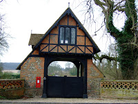 An entry gate at Chequers