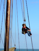 A young sailor learns the ropes