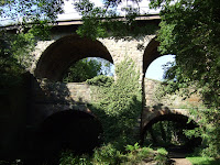 Unusual double arch bridge
