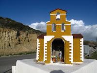 Roadside shrine to accident victim