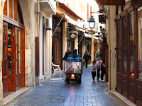 Rethymno narrow streets