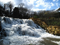 Blenheim Palace - cascade in grounds