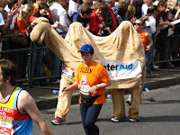 A 'camel' competing in the London Marathon