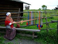 Weaving outdoors