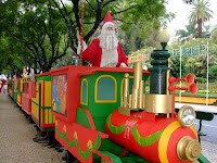 Santa in his train