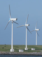 Modern windmills at the delta Project