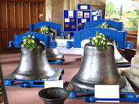 Refurbished bells wating to be re-hung at Olney
