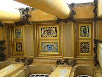 Blenheim Palace restored portico eyes