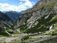 Looking down the other side of the Stelvio