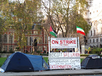 Brian Hawes, anti-war protestor
