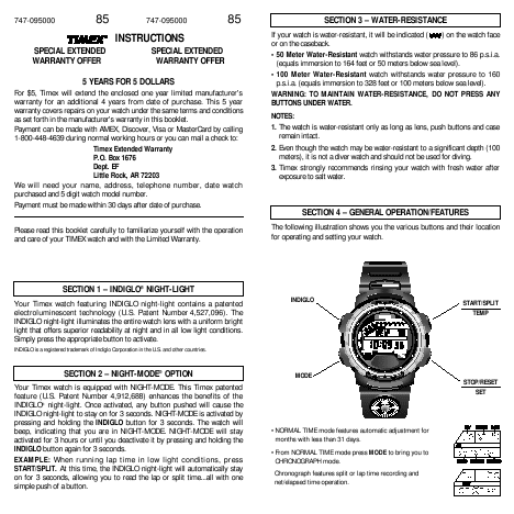 armitron watch instructions wr330ft