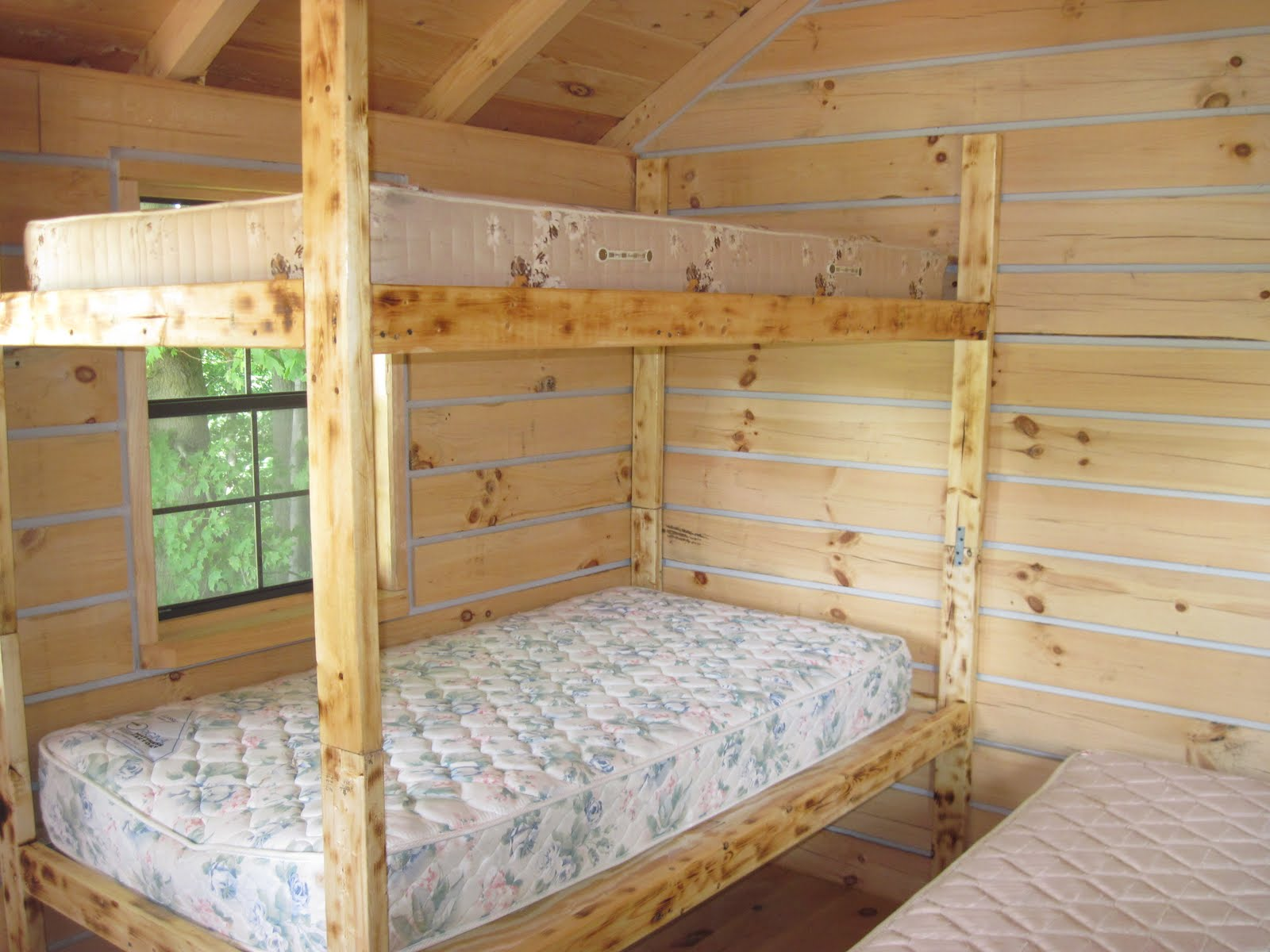 Download cabin bunk bed plans pdf cabinet incubator plans for Diy rustic bunk beds