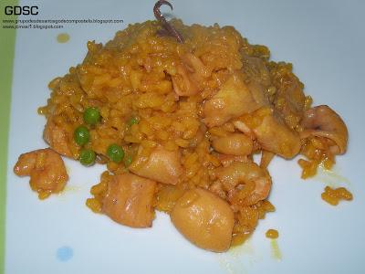 Arroz con bacalao gambas y chipirones receta por jcmaxi - Arroz blanco con bacalao ...