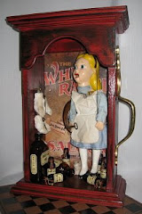Alice's Bizarre Wonderland Shadow Box Assemblage