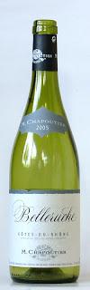 コート・デュ・ローヌ ベルルーシュ ブラン 2005 M・シャプティエ ボトル ラベル