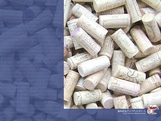 ワインのコルク壁紙