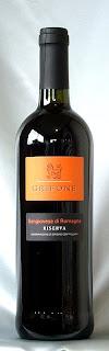 サンジョヴェーゼ ディ ロマーニャ リゼルヴァ 2002 ボトル ラベル