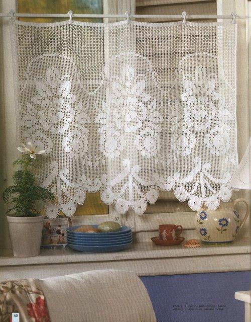 Cortinas a crochet con patrones - Imagui