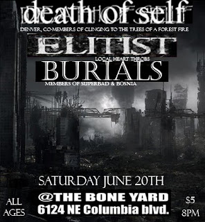 The gang is dead june 2009 burials was not able to play blueprint for disaster and ritual necromancy took their place the show was at a punk basement next door to a malvernweather