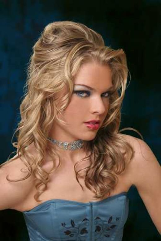 side curly hairstyles. curly side ponytail hairstyles