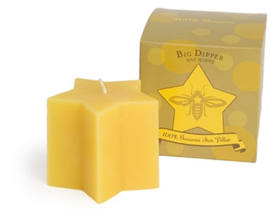 Beeswax Star Candle