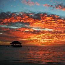 Coucher de Soleil aux Maldives!