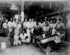 Funcionários da Oficina da Bacia, Tibiriçá, anos 50