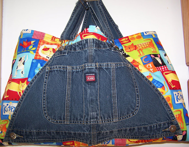 """Cats on the Loose"" Bib Overall Tote Market Book Bag"