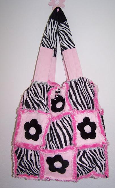 Handmade Chenille Handbag Purse