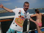 My son during his graduation cruise in 2010.
