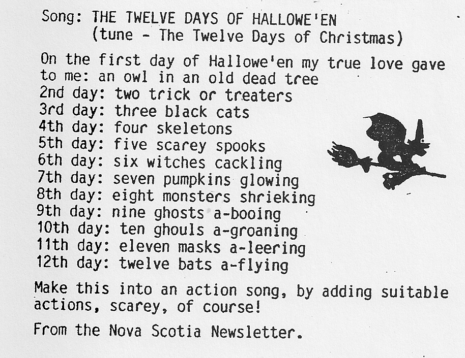 a canadian guider: The Twelve Days of Hallowe'en