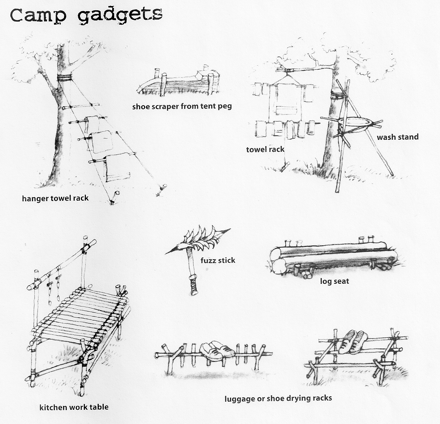 a canadian guider  camp gadgets