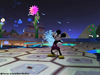 Mickey Mouse in action in Epic Mickey for the Nintendo Wii