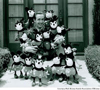 Walt Disney and many Mickeys