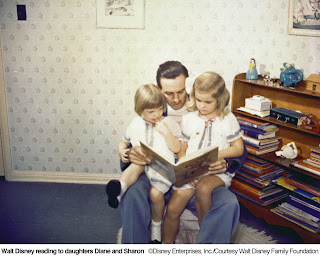 Walt reads to his daughters