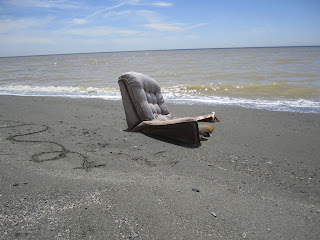 Bombay Beach - A Chair at the Water's Edge