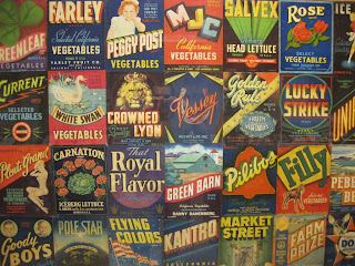 Produce Labels at the Pioneer Museum in Imperial Valley