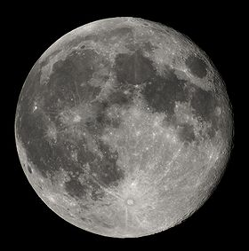 Photo of the moon.