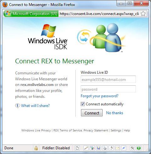 Windows Live REST Explorer 2