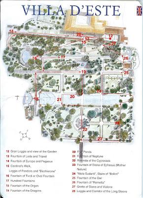 Villa D'Este Map