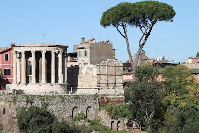View of the Temples of Vesta and Tiburnus
