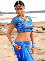 Telugu Actress Shreya Village getup blue dress photo
